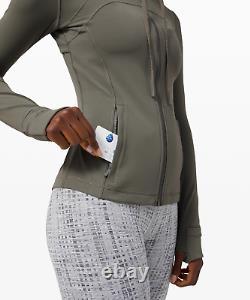 DISCONTINUED! Lululemon Define Jacket Size 8 Grey Sage GRSG Hoodie Hooded Nulu