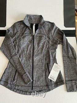 LULULEMON 10 Define Jacket Luon HBLK Zip Up Run Yoga NWT Ready To Ship