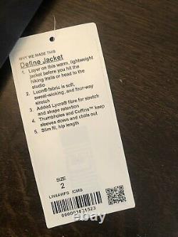 LULULEMON Define Jacket INCOGNITO CAMO MULTI GREY, Size 2 NWT