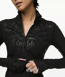 LULULEMON Manifesto Spark Define Jacket Black Foil LTD Edition WOMENS SZ 8 NWT
