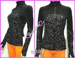 LULULEMON SPARKSPECKLE SHINE BLACK DEEP COAL SILVER DEFINE Jacket, Size 6 #L293