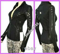 LULULEMON SPARK MANIFESTO FOIL BLACK LUXTREME DEFINE Jacket, Size 4 #L186