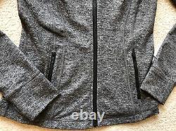 LULULEMON Size 8 Define Jacket Luon Heathered Black Gray HBLK ZipUp Run Yoga NWT