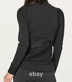 LULULEMON Size 8 Hot Mesh Jacket Black Zip Up Stretch Mesh Define Shape Run NWT