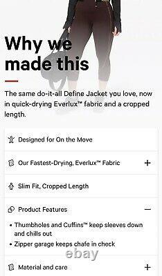 Limited Edition Lululemon Black Define Jacket Cropped GoldSize 10 NWT Stunning