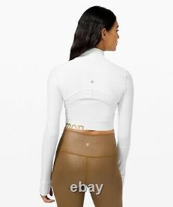 Lulu Nwt Define Jacket Cropped Gold White 6usa Free Usps First Class Ship