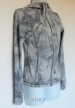 Lululemon 6 Define Hooded Jacket Diamond Dye Stargaze Pitch Grey NWT Nulu