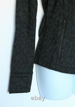Lululemon 6 Define Jacket Luxtreme Formation Camo NWT Leopard Black Deep Coal