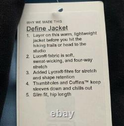 Lululemon Aloha Hawaii Black Define Jacket Size 2 4 6