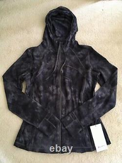 Lululemon Define Hooded Jacket Nulu Diamond Dye Pitch Grey Graphite Grey 10 14