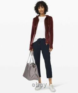 Lululemon Define Hooded Velvet Jacket In Garnet Size 8 Brand New With Tags