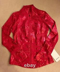 Lululemon Define Jacket 20YR Manifesto Foil Dark Red 10