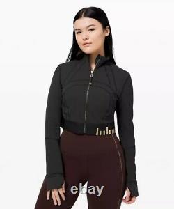 Lululemon Define Jacket Cropped Black/gold Special Edition Size 4 NWT