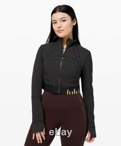 Lululemon Define Jacket Cropped Gold Black / Size 6
