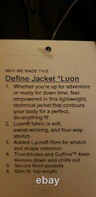 Lululemon Define Jacket Luon Black Camo Size 4 No Hood