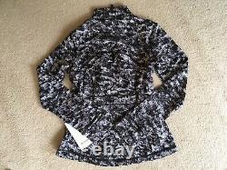 Lululemon Define Jacket Luxtreme Misted Jacquard Black White 8 12