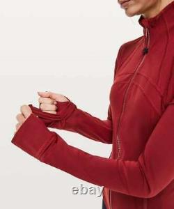 Lululemon Define Jacket Luxtreme Size 10 Dark Sport Red NWT Yoga Gym Run Coat