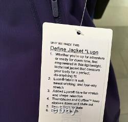 Lululemon Define Jacket Midnight Orchid Purple 8 10 12
