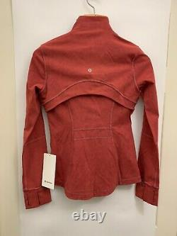 Lululemon Define Jacket NWT Size 4 WMML Washed Misty Merlot Garment Dye