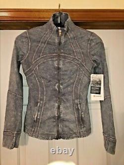 Lululemon Define Jacket Nulux Ice Wash Asphalt Grey Size 6