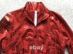 Lululemon Define Jacket Red Foil Manifesto Size 8 NWT MFDR Luxtreme LW4AZ3S New