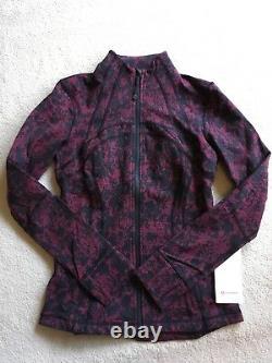 Lululemon Define Jacket Scatter Blossom Jacquard Garnet Black 8