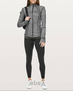 Lululemon Define Jacket Size 6 Luminesce Splatter Black White NWT Yoga Gym Top