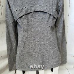 Lululemon Define Pullover Heathered Slate Size 8 NWT