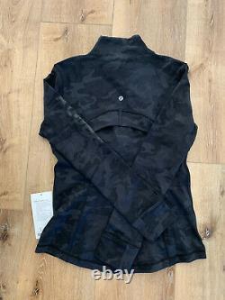 Lululemon Hawaii Aloha Incognito Camo Grey Black ICMG Define Jacket Size 10 NWT