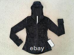 Lululemon Hooded Define Jacket Crushed Velvet In Black Size 10 New With Tags