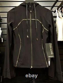 Lululemon Hooded Define Jacket Gold Special Edition Black 14