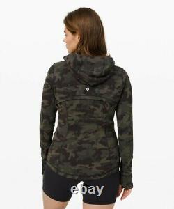 Lululemon Hooded Define Jacket Nulu Align Size 4 Incognito Camo Multi Gator