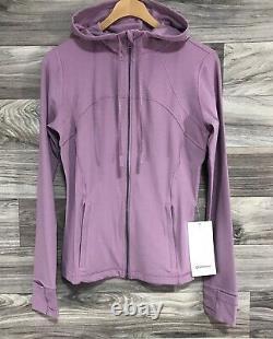 Lululemon Hooded Define Jacket Nulu Sz 8 Pink Taupe PKTP 28745