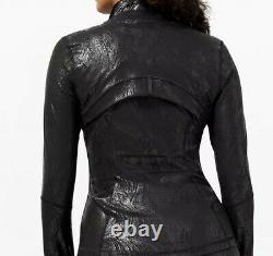 Lululemon Nwt Define Jacket Shineacclimatize Black Foilsize 8