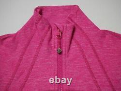Lululemon Run Define Jacket New Size 6 Heathered Jewelled Magenta Pink