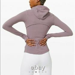 Lululemon Size 4 Define Hooded Jacket Nulu Lavender GRSG Zip Classic Forme