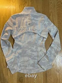 Lululemon Size 6 Define Jacket Jacquard Camo White PTMN Full Zip Run Speed Yoga