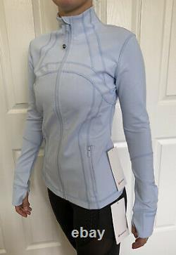 Lululemon Size 8 Define Jacket Luon Blue Daydream DAYD Zip Up LS Speed RUN