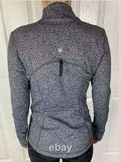 Lululemon Size 8 Define Jacket Luon Gray HBLK Zip Up LS Forme Run Speed