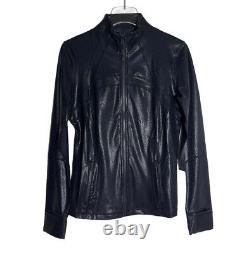 Lululemon Spark Foil Black Jacket Luminosity Define Jacket Womens 10 NWT