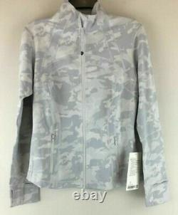 Lululemon Sz US 8 / UK 12 Define Jacket Camo Grey White Full Zip Run Yoga BNWT