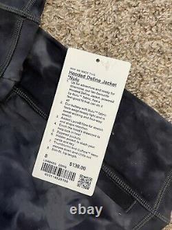 Lululemon Women's hooded Define Jacket Nulu Black & Gray Fade Size 8