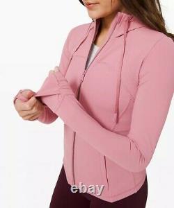 Lululemon hooded define jacket nulu pink taupe size 4 NWT