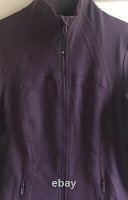 MINT! LULULEMON sz 10 New Edition DEFINE Jacket BLACK CURRANT Plum Zinfandel