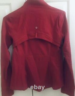 MINT! LULULEMON sz 12 New Edition DEFINE Jacket DARK RED