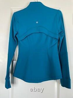 NEW LULULEM0N Women's DEFINE CYPRUS Active Wear Dark Turquoise Jacket $118