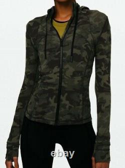 NEW LULULEMON Define Hooded Jacket 12 Incognito Camo Gator Green FREE SHIP