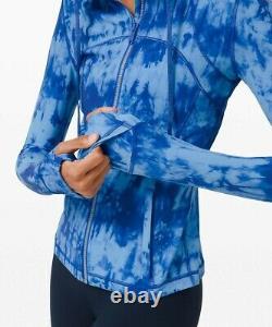 NEW LULULEMON Define Hooded Jacket 14 Game Day Blue Multi FREE SHIP