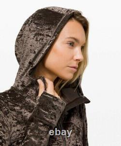 NEW LULULEMON Define Hooded Jacket Crushed Velvet 8 French Press FREE SHIP