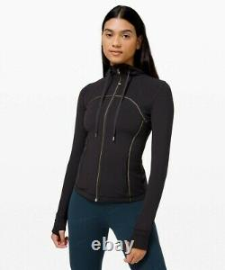 NEW LULULEMON Define Hooded Jacket Gold 10 Black SPECIAL EDITION FREE SHIP